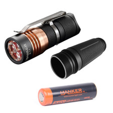 Bundle: Manker E14 + Tube + High Drain 18650 Battery