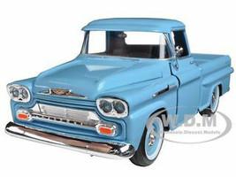 1958 Chevrolet Apache Fleetside Pickup Light Blue 1/24 Diecast Car Model Motormax 79311