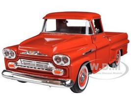 1958 Chevrolet Apache Fleetside Pickup Orange 1/24 Diecast Car Model Motormax 79311