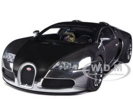 Bugatti EB Veyron 16.4 Pur Sang Black / Aluminum Casting 1/18 Autoart AA70966