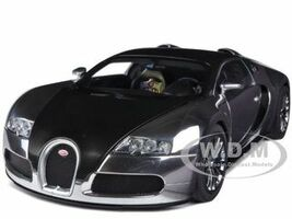 Bugatti EB Veyron 16.4 Pur Sang Black Aluminum Casting 1/18 Diecast Model Car Autoart