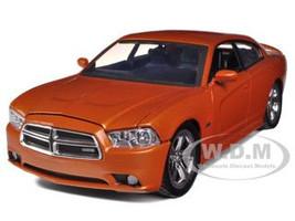 2011 Dodge Charger R/T Hemi Metallic Orange 1/24 Diecast Car Model Motormax 73354