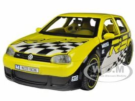 "Volkswagen Golf R32 Yellow ""All Stars"" 1/24 Diecast Model Car Maisto 31043"