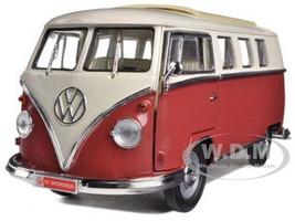 1962 Volkswagen Microbus Burgundy/Cream 1/18 Diecast Car Model Road Signature 92328