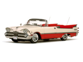1959 Dodge Custom Royal Lancer Convertible Poppy Red Pearl 1/18 Diecast Model Car Sunstar