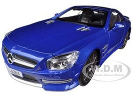 2012 Mercedes SL 63 AMG Blue 1/18 Diecast Car Model Maisto 36199