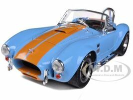 1965 Shelby Cobra 427 S/C Blue With Orange Stripes 1/18 Diecast Model Car Shelby Collectibles 129