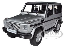1998 Mercedes G500 G Class SWB Silver 1/18 Diecast Car Model Autoart 76112