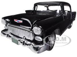 1955 Chevrolet Bel Air Hard Top Black Custom 1/18 Diecast Model Car Motormax 79001