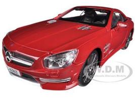 2012 Mercedes SL 63 AMG Red 1/18 Diecast Model Car Maisto 36199