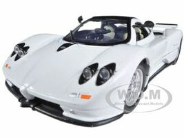 Pagani Zonda C12 White 1/24 Diecast Car Model Motormax 73272