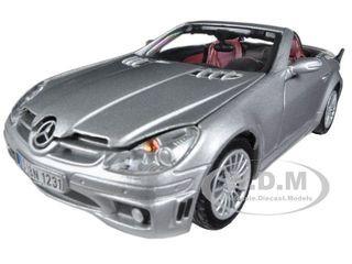 2005 Mercedes SLK55 SLK 55 AMG Silver 1/24 Diecast Car Model Motormax 73292