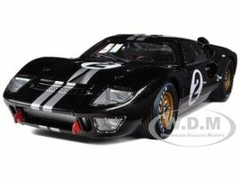 1966 Ford GT-40 MK 2 Black #2 1/18 Diecast Model Car Shelby Collectibles 408