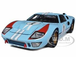 1966 Ford GT-40 MK 2 Blue #1 1/18 Diecast Model Car Shelby Collectibles 411