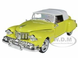 1948 Lincoln Continental Yellow 1/32 Diecast Model Car Arko Products 24801