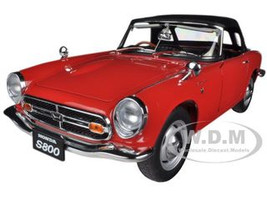 1966 Honda S800 Roadster Red 1/18 Diecast Car Model Autoart 73276