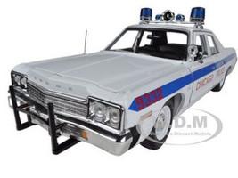 1974 Dodge Monaco Chicago Department Police Car Limited to 2000pc 1/18 Diecast Model Car Autoworld AMM987