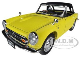 1966 Honda S800 Roadster Yellow 1/18 Diecast Car Model Autoart 73277