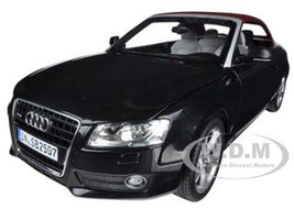 2009 Audi A5 Convertible Brilliant Black 1/18 Diecast Model Car Norev 188355