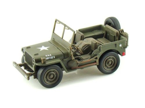 Jeep Willys USA Army Green 1/4 Ton 1/32 Diecast Model New Ray 54133