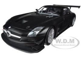 2011 Mercedes SLS AMG GT3 Street Version Matt Black 1/18 Diecast Model Car  Minichamps 151113101