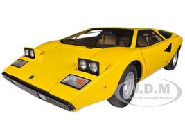 Lamborghini Countach LP400 Yellow 1/18 Diecast Car Model Autoart 74646