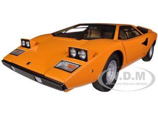 Lamborghini Countach LP400 Orange 1/18 Diecast Car Model Autoart 74647