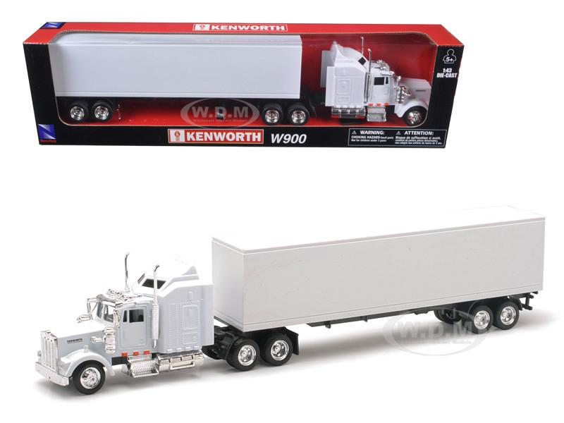 Kenworth W900 Plain White Unmarked 1/43 Model New Ray 15843