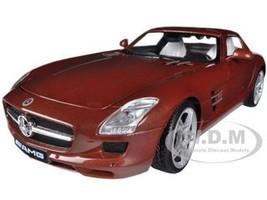 Mercedes SLS AMG Gullwing Chocolate 1/18 Diecast Car Model Motormax 79162