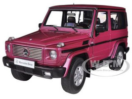 1998 Mercedes G500 G Class SWB Red 1/18 Diecast Model Car Autoart 76113