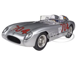 1955 Mercedes 300 SLR Mille Miglia #704 Hans Herrmann Limited to 2000pc 1/18 Diecast Model Car CMC 119 12454