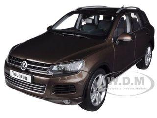 2010 Volkswagen Touareg V6 FSI Graciosa Brown Metallic 1/18 Diecast Car Model Kyosho 08821