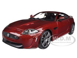 Jaguar XKR-S Burgundy 1/24 Diecast Car Model Bburago 21063