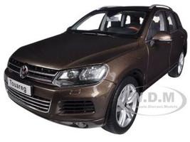 2010 Volkswagen Touareg V6 TSI Graciosa Brown Metallic 1/18 Diecast Car Model Kyosho 08822