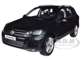 2010 Volkswagen Touareg V6 TSI Deep Black Pearl Effect 1/18 Diecast Car Model Kyosho 08822