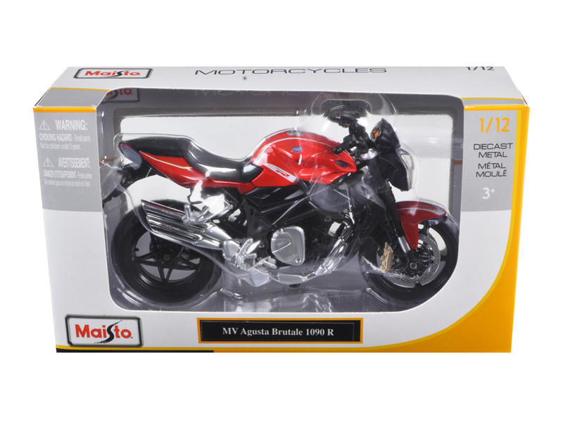 2012 MV Agusta Brutale 1090 R Red 1/12 Motorcycle Maisto 11096