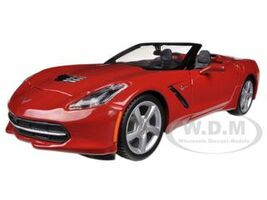 2014 Chevrolet Corvette C7 Convertible Metallic Red 1/24 Diecast Model Car Maisto 31501