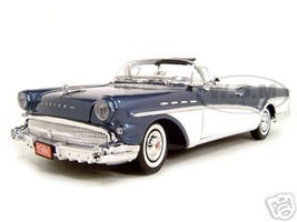 1957 Buick Roadmaster Convertible Blue 1/18 Diecast Model Car Motormax 73152