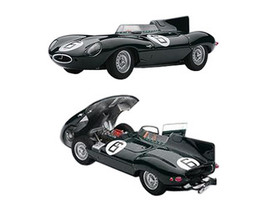 Jaguar D-Type #6 1955 24hr Le Mans Winner w/Openings J.M.Hawthorn / I.L.Bueb 1/43 Diecast Model Car Autoart 65586