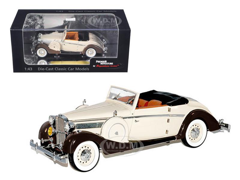 1937 Maybach SW38 Spohn 2 Doors Tan Convertible 1/43 Diecast Car Model Signature Models 43705