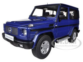 1998 Mercedes G500 G Class SWB Blue 1/18 Diecast Car Model Autoart 76114