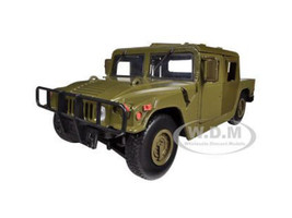 Humvee Military Cargo/Troop Carrier Green 1/24 Diecast Car Model Motormax 73294