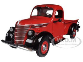 1938 International D-2 Pickup Truck IH Red / Black 1/25 Diecast Model First Gear 40-0290