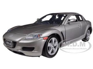 Mazda RX-8 Grey 1/24 Diecast Car Model Motormax 73323