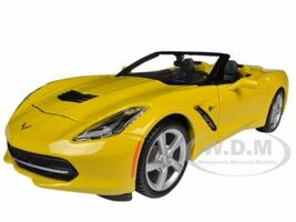 2014 Chevrolet Corvette C7 Convertible Yellow 1/24 Diecast Model Car Maisto 31501