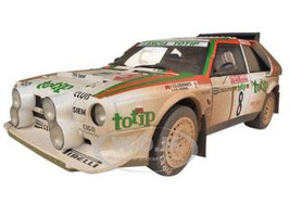 Lancia S4 Rally San Remo 1986 Cerrato/Cerri #8 Muddy Version 1/18 Diecast Model Car Autoart 88619