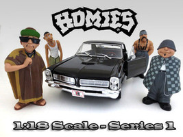 Homies Figure Set of 4pc For 1:18 Scale Diecast Model Cars American Diorama