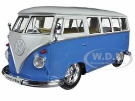 1962 Volkswagen Classical Bus Low Rider Blue 1/24 Diecast Car Model Welly 22095