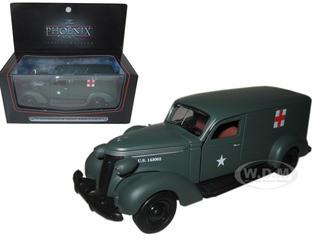 1937 Studebaker Army Ambulance Van 1/43 Diecast Car Model Phoenix Mint 18376