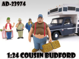 """Cousin Budford """"Trailer Park"""" Figure For 1:24 Scale Diecast Model Cars American Diorama 23974"""